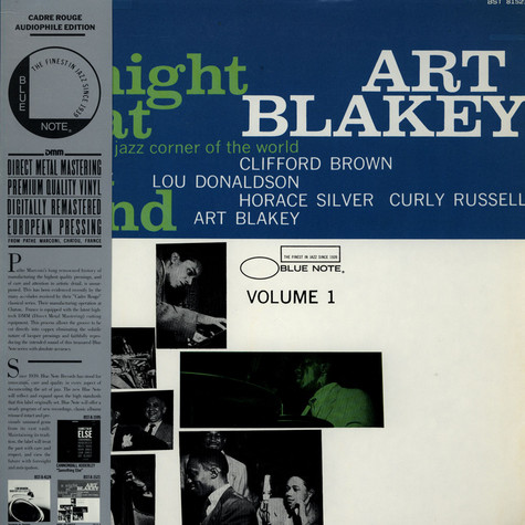 Art Blakey Quintet, The - A Night At Birdland Volume 1
