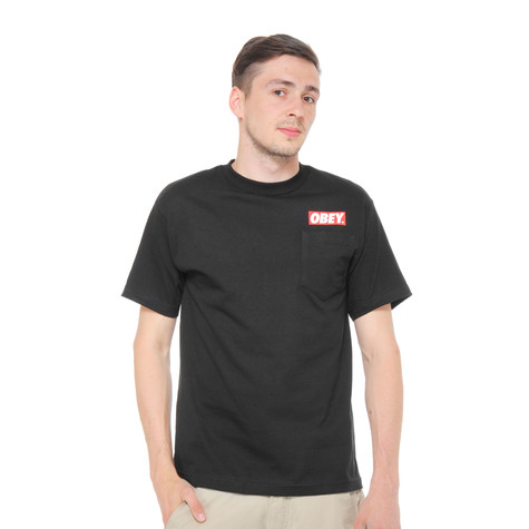 Obey - Obey Bar Logo Pocket T-Shirt