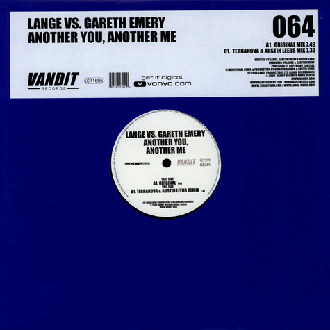 Lange vs. Gareth Emery - Another You, Another Me