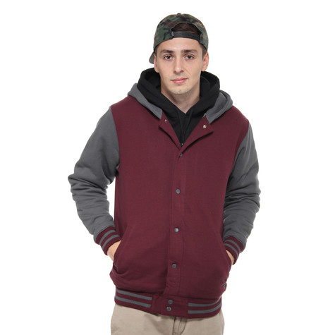 7be69aa75c Vans - University II Sherpa Button Up Hoodie (Port Royale   Gravel ...