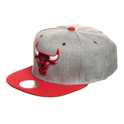 Mitchell & Ness - Chicago Bulls NBA Vintage Heather Grey Wool Strapback Cap