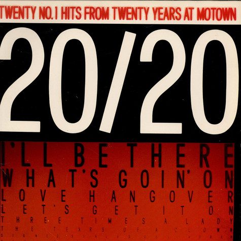 V.A. - 20/20 Twenty No.1 Hits From Twenty Years At Motown