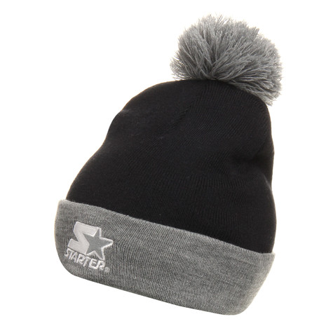 Starter - Branded 2 Tone Bobble Cuff Knit Beanie