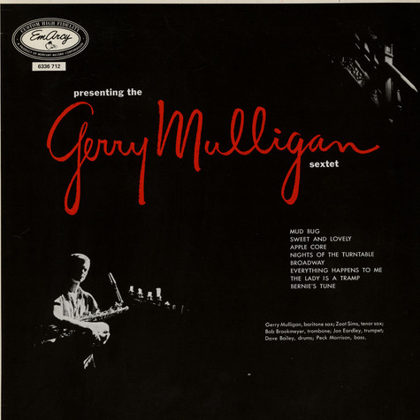 Gerry Mulligan And His Sextet - Presenting The Gerry Mulligan Sextet
