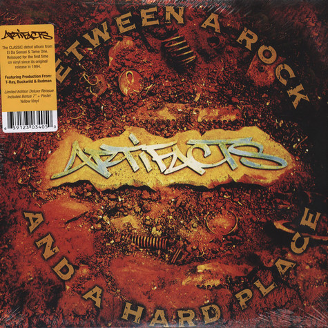 Artifacts - Between A Rock And A Hard Place Yellow Vinyl Edition