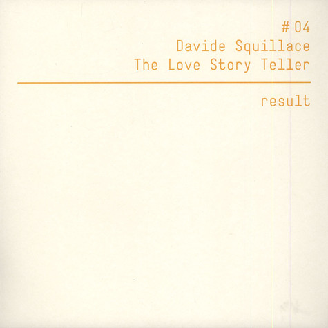 Davide Squillace - The Love Story Teller