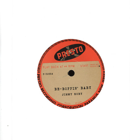 Jimmy Roby - Be-Boppin' Baby / Wait A Little Baby