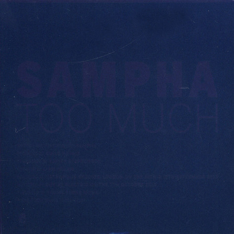 Sampha - Too Much / Happens