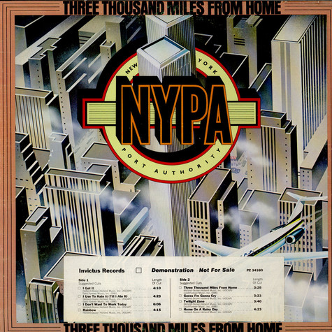 New York Port Authority - Three Thousand Miles From Home