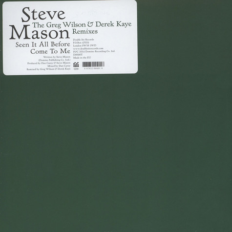 Steve Mason - Greg Wilson and Derek Kaye Remixes