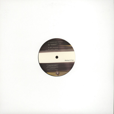 Vinyl Speed Adjust, Diferit & Lumieux - Reliant EP
