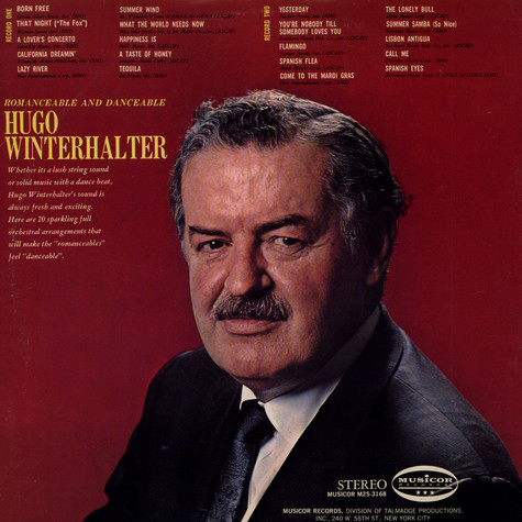 Hugo Winterhalter - Romanceable And Danceable