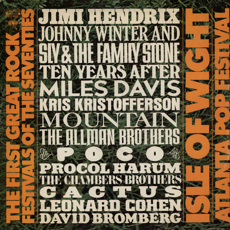 V.A. - The First Great Rock Festivals Of The Seventies - Isle Of Wight / Atlanta Pop Festival