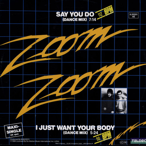 Zoom Zoom - Say You Do