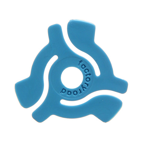 Factory Road - 45 RPM Adapters Blue Color (Pack of 18)