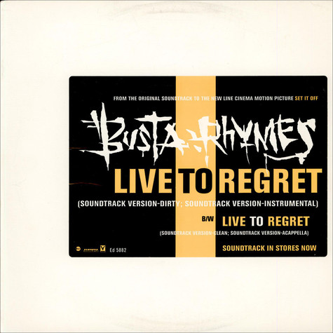 Busta Rhymes - Live To Regret