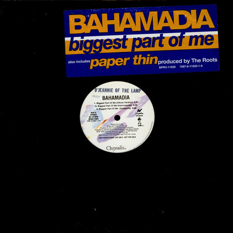 Bahamadia - Biggest Part Of Me / Paper Thin