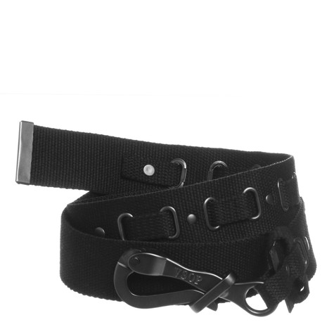 Akomplice - All Black Canvas Pelican Belt