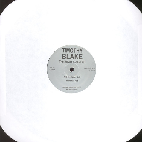 Timothy Blake - The House Auteur EP