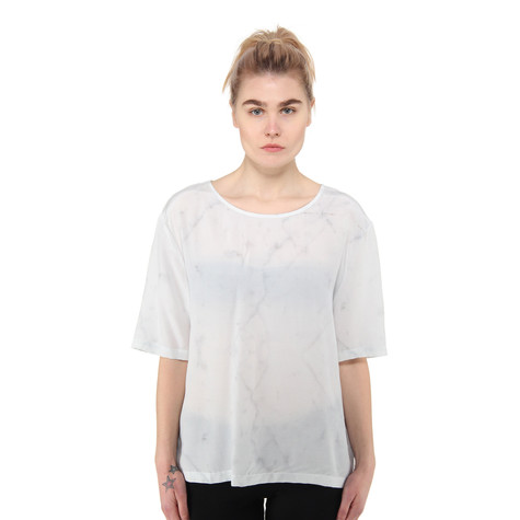 A Question Of - White Marble Boxy T-Shirt
