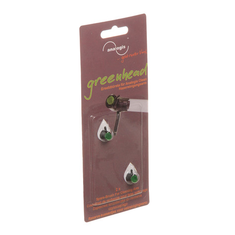 analogis - Vinyl Nassreinigungsarm Ersatzbürste Greenhead (Pack of 2)