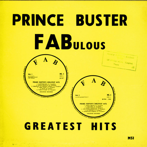 Prince Buster - Fabulous Greatest Hits