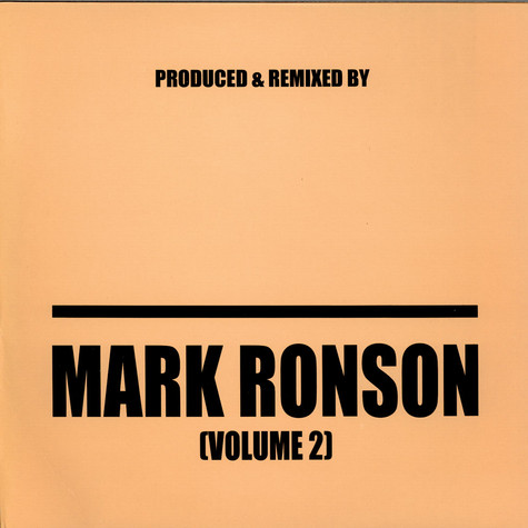 Mark Ronson - Produced & Remixed By Mark Ronson (Volume 2)