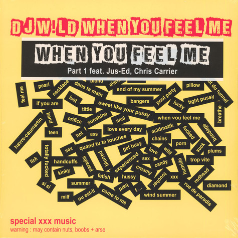 DJ W!Ld - When You Feel Me Remixes Part 1