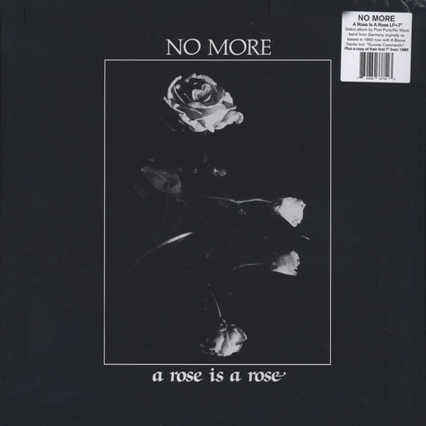 No More - A Rose Is A Rose
