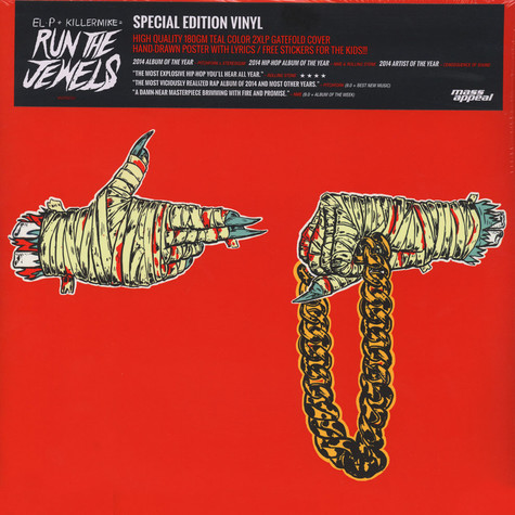 Run The Jewels (El-P + Killer Mike) - Run The Jewels 2 Teal Vinyl Edition