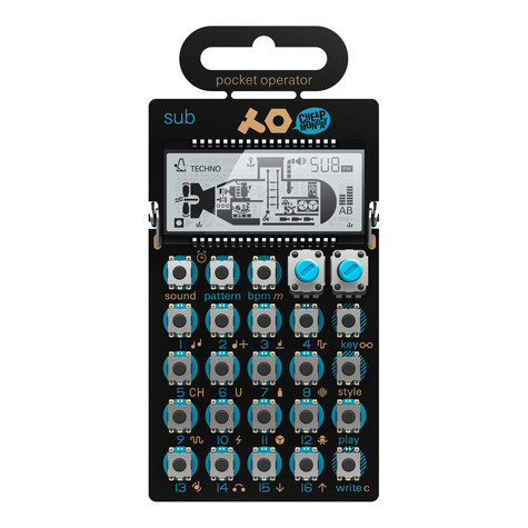 Teenage Engineering x Cheap Monday - Pocket Operator PO-14 Sub (Bass Synthesizer)