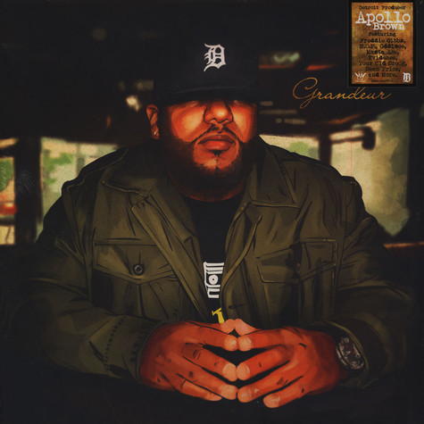 Apollo Brown - Grandeur Army Green Black Splatter Vinyl