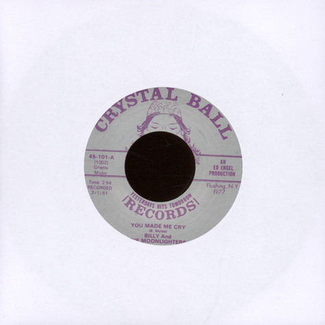 Billy & The Moonlighters - Little Indian Girl / You Made Me Cry