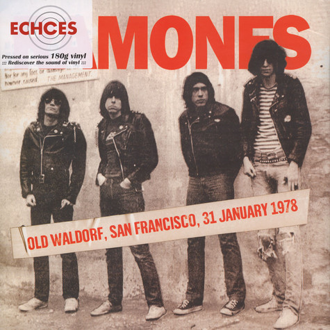 Ramones - Old Waldorf, San Francisco, 31 January 1978