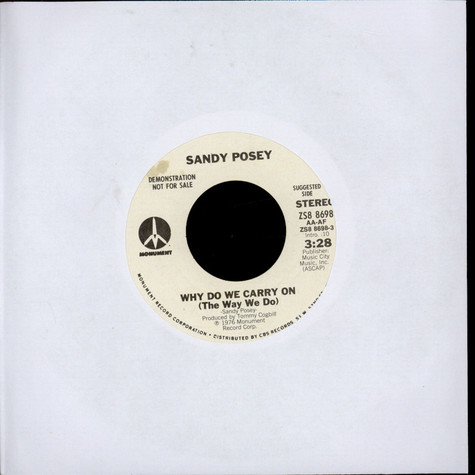 Sandy Posey - Why Do We Carry On