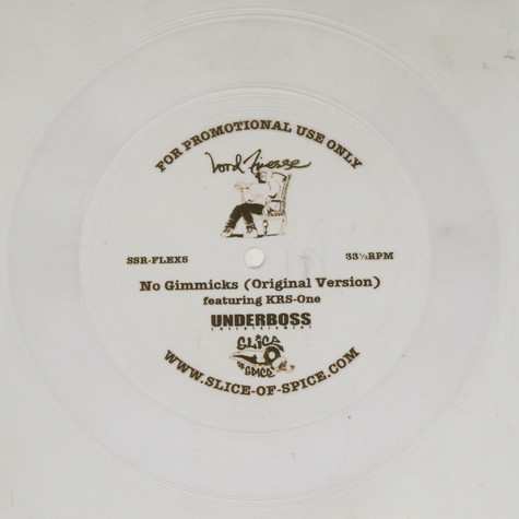 Lord Finesse - No Gimmicks Original Version Flexi Disc