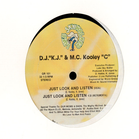 DJ KJ & MC Kooley C - Just Look And Listen / Sheryl & Donna