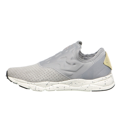 9df87f228e4a Reebok - Furylite Slip-On Lux (Tin Grey   Chalk   Rbk Brass)