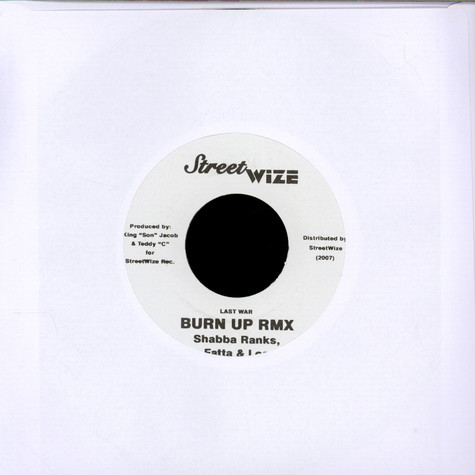 Alborosie / Shabba Ranks, Fatta & Los - Police RMX / Burn Up RMX
