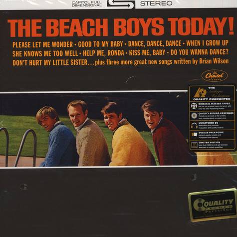 Beach Boys, The - Today! 200g Vinyl Stereo Edition