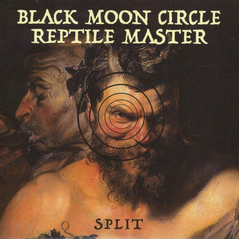 "Reptile Master / Black Moon Circle - Split 7"" Black / White Vinyl Edition"