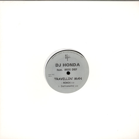 DJ Honda / For Real - Travellin' Man / Like I Do