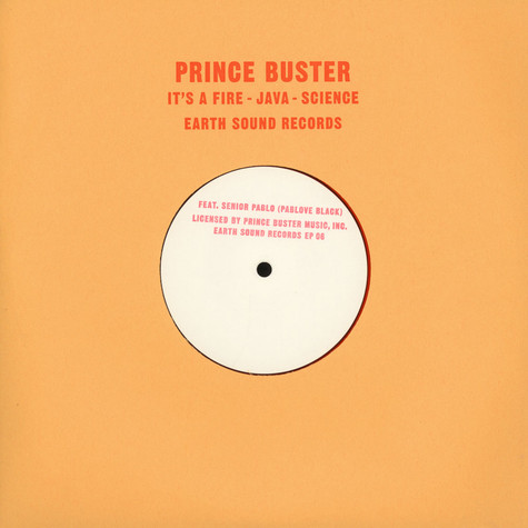 Prince Buster & Senior Pablo (Pablove Black) - It's A Fire / Java / Science