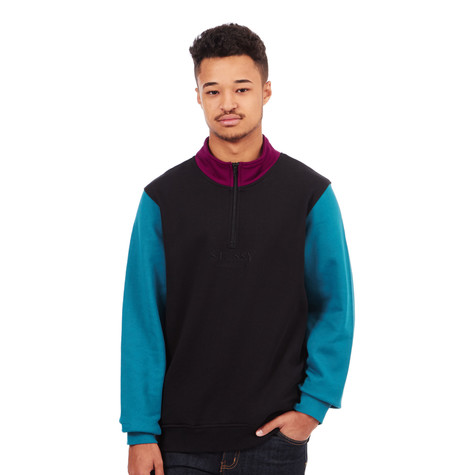Stüssy - Half Zip Mock Neck Sweater