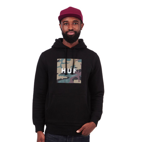 HUF - Muted Military Box Logo Pullover Fleece Hoodie