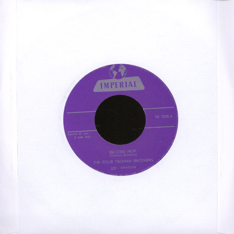 Four Tielman Brothers - Record Hop / Swing It Up