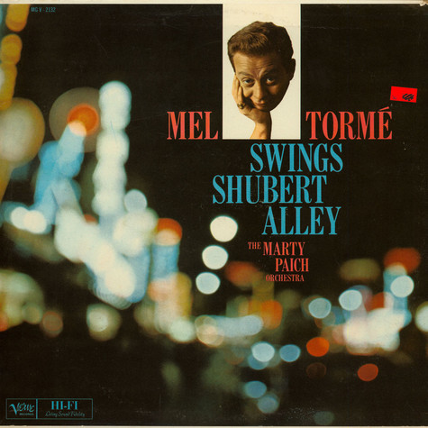 Mel Tormé With Marty Paich Orchestra - Swings Shubert Alley