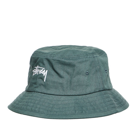 Stüssy - Bio Washed Herringbone Bucket Hat (Green)  a2d77d97c5c