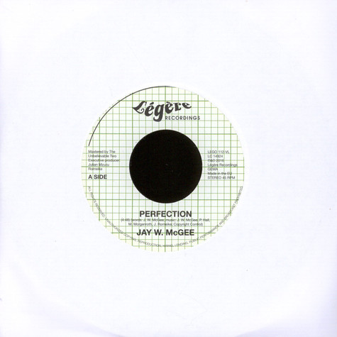 Jay W. McGee - Perfection / Love In Motion