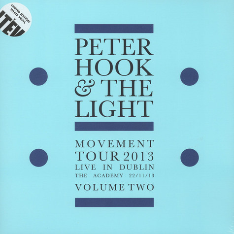 Peter Hook & The Light - Movement - Live In Dublin Volume 2
